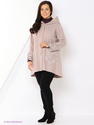Пальто DizzyWay. Цвет: бледно-розовый