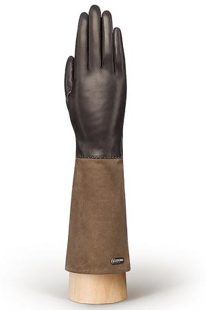 Перчатки Eleganzza. Цвет: темно-коричневый, серо