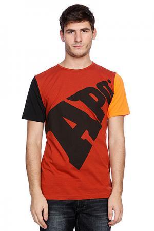 Футболка  Bold Regular Rust Apo. Цвет: бордовый,оранжевый,черный