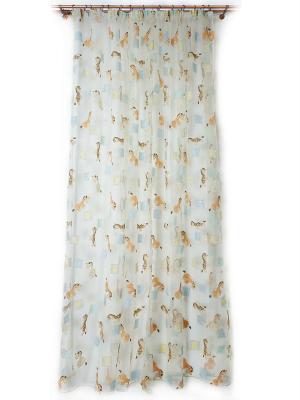 Тюль DAILY by TOGAS. Цвет: бирюзовый, голубой