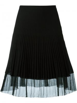 Плиссированная юбка Christian Dior Vintage. Цвет: чёрный