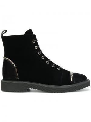 Ботинки на шнуровке Giuseppe Zanotti Design. Цвет: чёрный