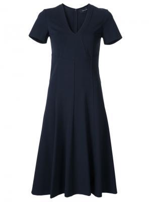 Расклешенное платье с V-образным вырезом Derek Lam. Цвет: чёрный