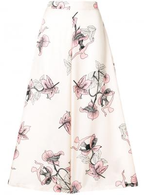 Floral print cropped trousers Vivetta. Цвет: телесный