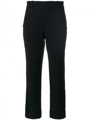 Укороченные брюки клеш Eleventy. Цвет: чёрный