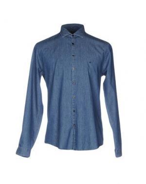 Джинсовая рубашка CK CALVIN KLEIN. Цвет: синий