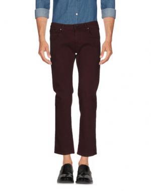 Повседневные брюки TRUE NYC.. Цвет: баклажанный