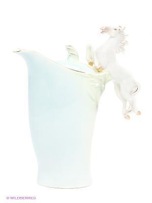 Заварочный чайник Лошадь Pavone. Цвет: светло-голубой, светло-зеленый