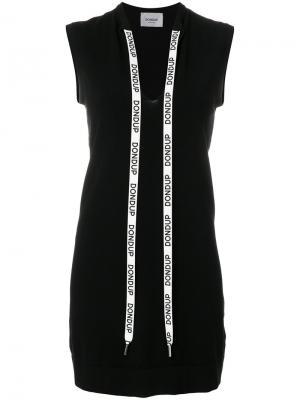 Платье из джерси с V-образным вырезом Dondup. Цвет: чёрный