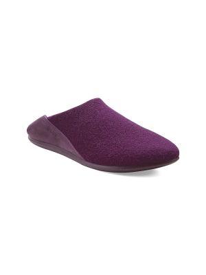 Домашняя обувь ECCO. Цвет: темно-фиолетовый