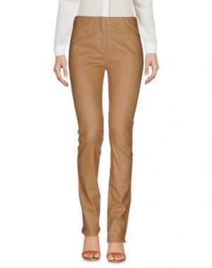 Повседневные брюки JITROIS. Цвет: верблюжий