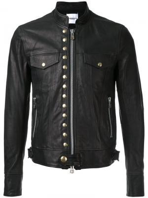 Куртка с заклепками Takahiromiyashita The Soloist. Цвет: чёрный