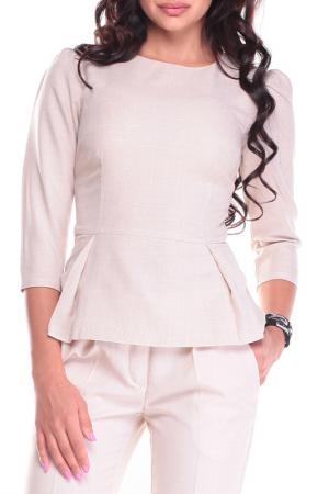 Блуза MAURINI. Цвет: бежевый