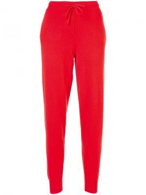 Спортивные штаны с отделкой Heart Burst Chinti & Parker. Цвет: красный