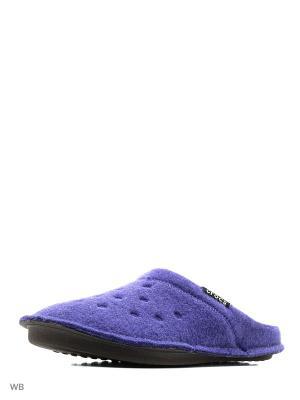 Тапочки CROCS. Цвет: фиолетовый