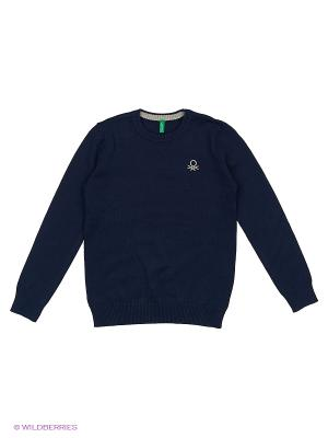 Джемпер United Colors of Benetton. Цвет: антрацитовый, темно-синий, темно-зеленый