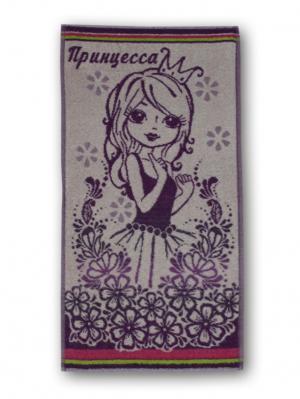 Полотенце махровое пестротканое жаккардовое 70x40см Принцесса Авангард. Цвет: фиолетовый