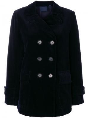 Двубортный пиджак Aspesi. Цвет: синий
