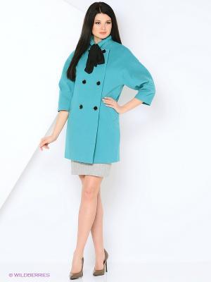 Пальто MARI VERA. Цвет: бирюзовый