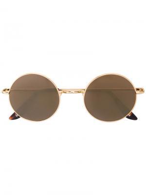 Круглые солнцезащитные очки Sunday Somewhere. Цвет: металлический