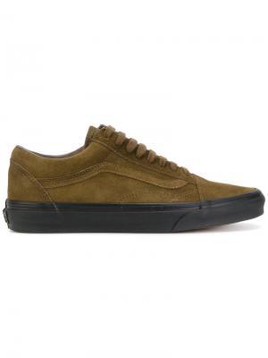 Кроссовки на контрастной подошве Vans. Цвет: коричневый