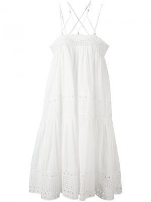 Платье с лямками крест-накрест Plein Sud. Цвет: белый