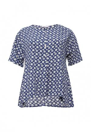 Блуза Lina. Цвет: синий