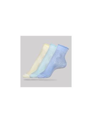 Носки CONTE Elegant. Цвет: белый, бирюзовый, салатовый