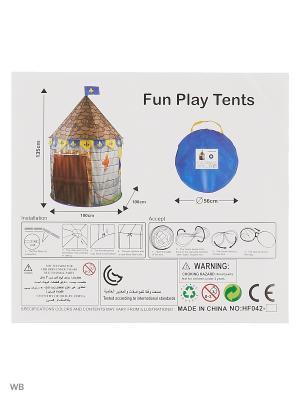 Палатка Игровой домик VELD-CO. Цвет: темно-синий, зеленый, темно-коричневый, серый, желтый