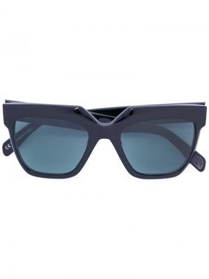 Солнцезащитные очки Vesuvio Zanzan. Цвет: чёрный