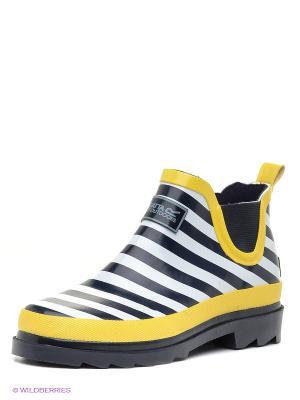 Резиновые сапоги REGATTA. Цвет: желтый, белый, темно-синий