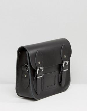 Leather Satchel Company Небольшая сумка сэтчел с заклепками на ремешке. Цвет: серебряный