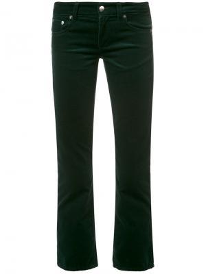 Укороченные брюки Mm6 Maison Margiela. Цвет: зелёный