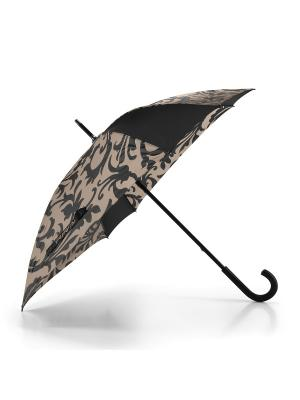 Зонт-трость Umbrella baroque taupe Reisenthel. Цвет: черный,темно-коричневый