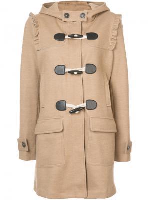 Hooded duffle coat Joie. Цвет: коричневый
