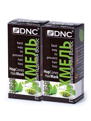 Набор для ухода за волосами:  Хмель (100 г) - 2 шт DNC. Цвет: серо-зеленый