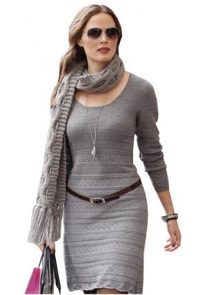 Платье Aniston. Цвет: розовато-сиреневый, темно-серый