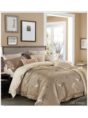 Комплект постельного белья ROMEO AND JULIET. Цвет: светло-коричневый, темно-бежевый, золотистый