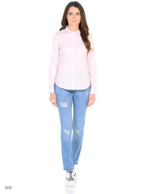 Рубашка Modis. Цвет: бледно-розовый