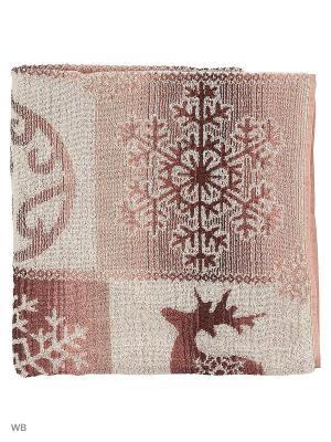Полотенце махровое пестротканое жаккардовое Новогоднее очарование Авангард. Цвет: коричневый, бежевый