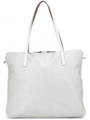 Большая сумка-тоут Amber Ally Capellino. Цвет: серый