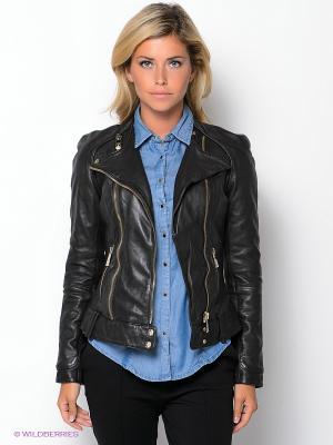 Куртка FIOMIO. Цвет: черный
