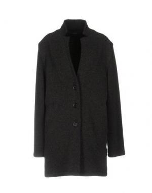 Пальто VNECK. Цвет: стальной серый