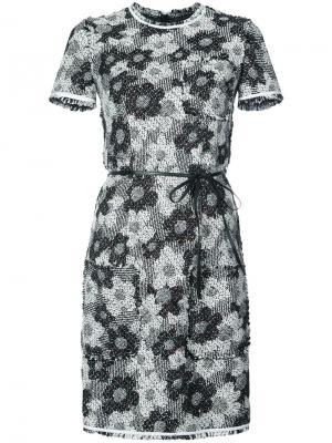 Floral tweed dress Paule Ka. Цвет: чёрный