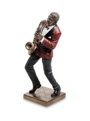 Статуэтка Саксофонист Veronese. Цвет: бронзовый, красный
