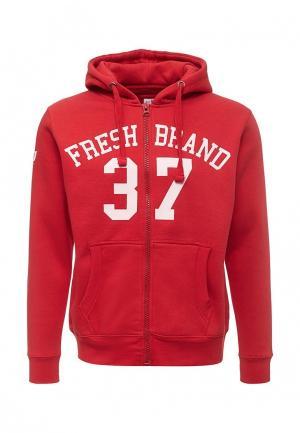 Толстовка Fresh Brand. Цвет: красный
