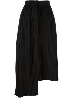 Асимметричная плиссированная юбка Aalto. Цвет: чёрный
