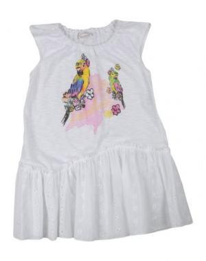 Платье LES PARROTINES. Цвет: белый