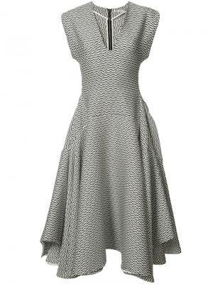 Вышитое расклешенное платье Maticevski. Цвет: чёрный
