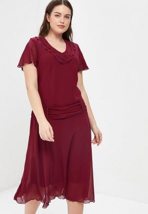 Платье Indiano Natural. Цвет: бордовый